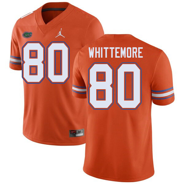 Jordan Brand Men #80 Trent Whittemore Florida Gators College Football Jerseys Sale-Orange